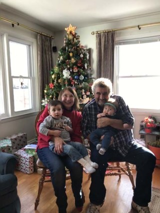 Luke's parents with Ellie and his nephew at Christmas