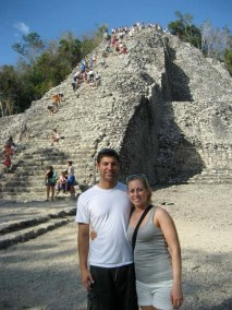 Luke and Katie at ruins in Mexico