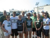 Katie's family at a Packer's game