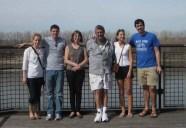 Luke's family on a trip to Kansas