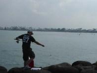Luke fishing in Hawaii