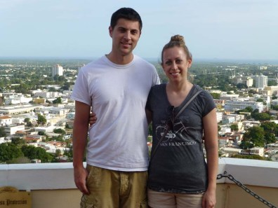 Luke and Katie touring an old home in Puerto Rico
