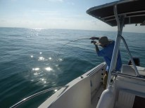 Luke fishing in the ocean in Florida