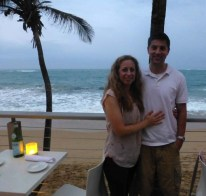 Luke and I Katie on Valentines Day in Puerto Rico