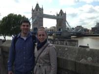 Luke and Katie at the London Bridge