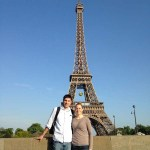 Luke and Katie at the Eiffel Tower in Paris