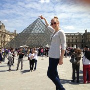 Katie at the Louvre Museum in Paris