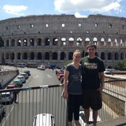 Katie and Luke and the Colosseum In Rome