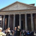 Katie and Luke at the Pantheon in Rome