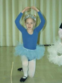 Katie at her dance recital when she was a kid