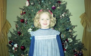 Katie at Christmas when she was a kid