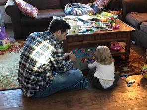 Teaching Ellie her letters