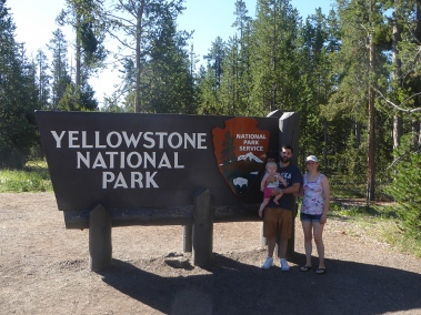 Luke, Katie and Ellie at Yellowstone National Park in Montana