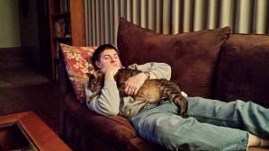 Luke and Sid taking a nap together