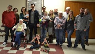 Luke's extended family at Thanksgiving
