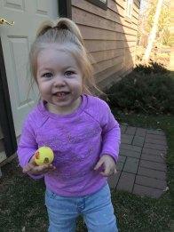 Ellie finding an Easter egg
